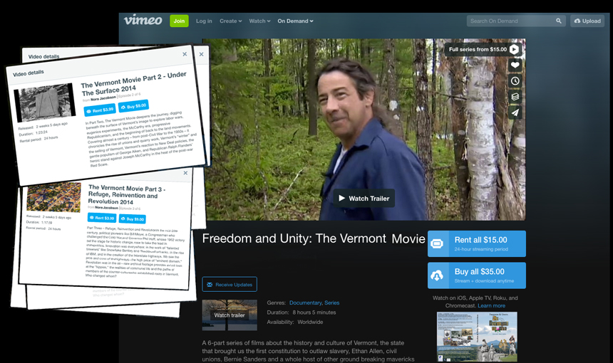 the vermont movie is streaming on vimeo